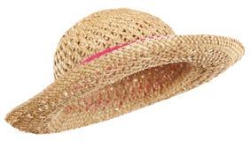 De hoed van het stro stock foto