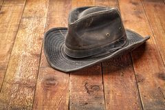 De hoed van het Wheatheredbinnenland royalty-vrije stock afbeelding