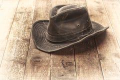 De hoed van het Wheatheredbinnenland stock afbeelding