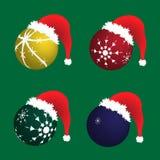 De hoed van Kerstmis van de kerstman Stock Foto's