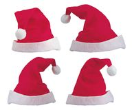De Hoeden van de kerstman Stock Foto's