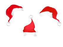 De hoeden van de Kerstman van Kerstmis Royalty-vrije Stock Afbeelding