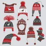 De hoeden van de winter royalty-vrije illustratie
