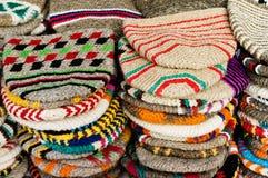 De hoeden van de wol van Marokko Stock Foto