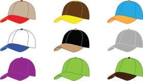 De hoeden van het honkbal Stock Foto's