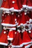 De hoeden van Kerstmis stock afbeeldingen