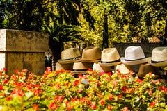De hoeden van Mallorca voor verkoop Stock Foto's