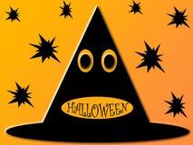 De hoedenachtergrond van Halloween stock illustratie