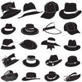 De hoedenvector van de manier Royalty-vrije Stock Afbeeldingen