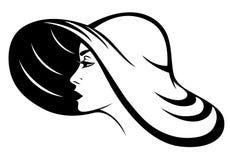De hoedenvector van de vrouw Stock Afbeeldingen
