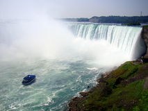 De hoef valt, Canadese kant van Dalingen Niagara Stock Foto's