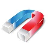 De hoefijzer illustratie van de twee kleurenmagneet Royalty-vrije Stock Foto's