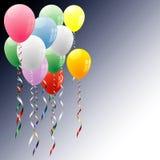 De hoek van ballons Stock Foto