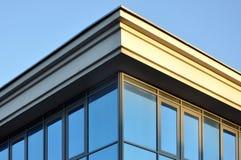 De hoek van de bovenkant van het gebouw Royalty-vrije Stock Foto's