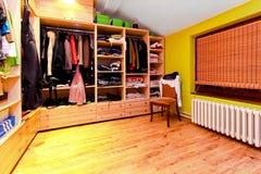 De hoek van de garderobe Stock Foto's