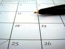 De hoek van de kalender Stock Foto's