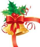 De hoek van de Kerstmisklok Stock Foto's