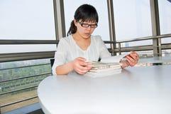 De hoek van de lezing Stock Fotografie