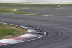 De Hoek van de renbaan stock afbeeldingen