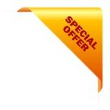 De hoek van de speciale aanbieding Royalty-vrije Stock Foto