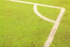 De hoek van de voetbal Stock Fotografie