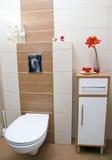 De hoek van het toilet. Royalty-vrije Stock Afbeelding