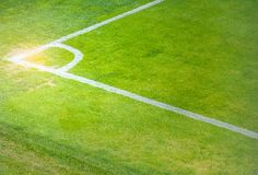 De hoek van het voetbalgebied Royalty-vrije Stock Fotografie