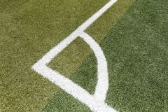 De hoek van het voetbalgebied, rgb adobe stock foto