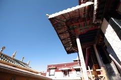 De hoek van Jokhang-Tempel Stock Foto's
