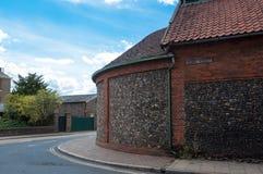 De hoek van Kroonstraat begraaft St Edmunds, het UK Stock Foto's