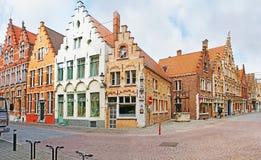 De hoek van middeleeuwse straat Royalty-vrije Stock Afbeelding