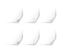 De hoek van ?urled van document | De vector reeks van de Wereld Royalty-vrije Stock Afbeeldingen