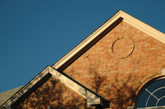 De hoekdiagonaal van het dak Stock Afbeeldingen
