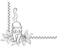 De hoekelement van de kat stock illustratie