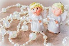 De hoeken zingen, met draad van kristalparels Royalty-vrije Stock Foto's