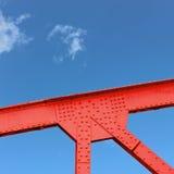 De Hoekplaat van de staalbrug Stock Afbeelding