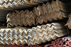 De hoekstichting van metaalprofielen voor de bouw structuren Stock Foto's