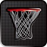 De hoepel dichte omhooggaand van het basketbal vector illustratie