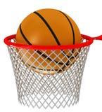 De hoepel en de bal van het basketbal vector illustratie