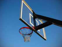 De hoepel en de rugplank van het basketbal Royalty-vrije Stock Afbeelding