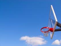 De hoepel van het basketbal en netto Royalty-vrije Stock Afbeeldingen