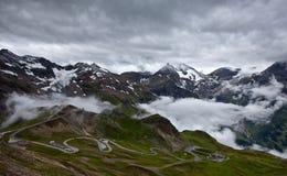 De Hoge Alpiene Weg van Grossglockner. Stock Afbeelding