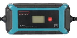 De hoge die frequentie van de batterijlader op witte achtergrond wordt geïsoleerd Stock Afbeelding