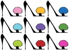 De Hoge Hielen van de dame - Reeks vector illustratie