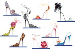 De hoge hielen van schoenen Stock Foto's