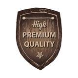 De hoge houten het etikethand van de premiekwaliteit trekt Stock Foto