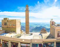 De hoge minaret Royalty-vrije Stock Fotografie