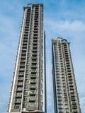 De hoge Moderne bouw, Condomimium (Flat) voor Verblijf stock foto
