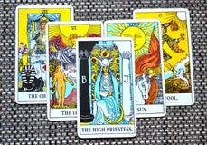 De Hoge Priestess Onderbewuste Tarotkaart, hoog-Zelf stock illustratie