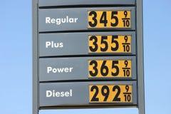 De hoge Prijzen van het Gas stock foto